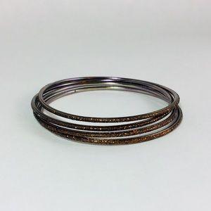 Jewelry - Set of 4 Glitter Bangles